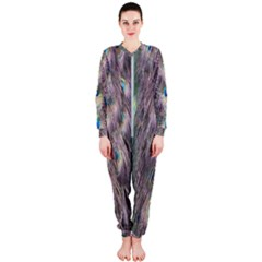 Peacock Bird Pattern Onepiece Jumpsuit (ladies)  by Pakrebo