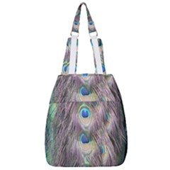 Peacock Bird Pattern Center Zip Backpack