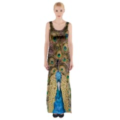 Peacock Feather Peacock Feather Maxi Thigh Split Dress