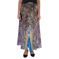Peacock Feather Peacock Feather Flared Maxi Skirt