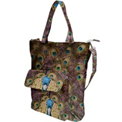 Peacock Feather Peacock Feather Shoulder Tote Bag by Pakrebo