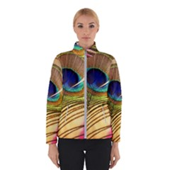 Peacock Feather Colorful Peacock Winter Jacket