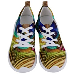 Peacock Feather Colorful Peacock Women s Lightweight Sports Shoes