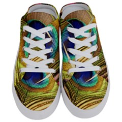 Peacock Feather Colorful Peacock Half Slippers