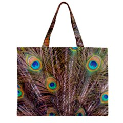 Pen Peacock Wheel Plumage Colorful Mini Tote Bag by Pakrebo