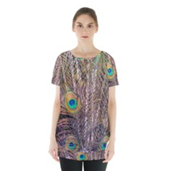 Pen Peacock Wheel Plumage Colorful Skirt Hem Sports Top