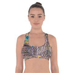 Pen Peacock Wheel Plumage Colorful Cross Back Sports Bra