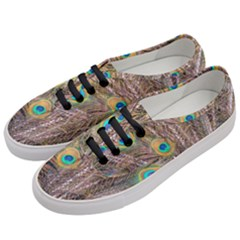 Pen Peacock Wheel Plumage Colorful Women s Classic Low Top Sneakers by Pakrebo