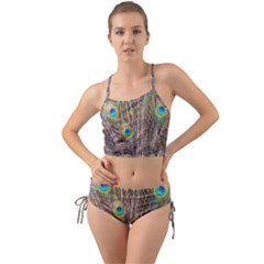 Pen Peacock Wheel Plumage Colorful Mini Tank Bikini Set
