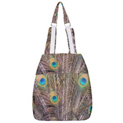 Pen Peacock Wheel Plumage Colorful Center Zip Backpack