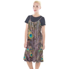 Pen Peacock Wheel Plumage Colorful Camis Fishtail Dress
