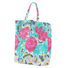 Roses And Movie Theater Carpet Giant Grocery Tote by okhismakingart