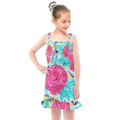 Roses And Movie Theater Carpet Kids  Overall Dress by okhismakingart