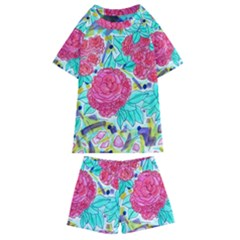 Roses And Movie Theater Carpet Kids  Swim Tee And Shorts Set by okhismakingart