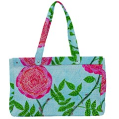 Roses And Seagulls Canvas Work Bag