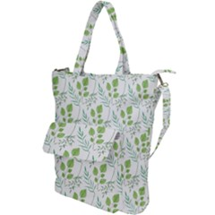 Fancy Floral Pattern Shoulder Tote Bag