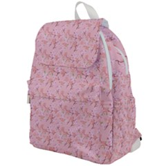 Fancy Floral Pattern Top Flap Backpack by tarastyle