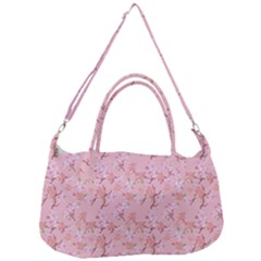 Fancy Floral Pattern Removal Strap Handbag