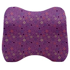 Fancy Floral Pattern Velour Head Support Cushion by tarastyle
