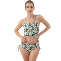 Fancy Floral Pattern Mini Tank Bikini Set by tarastyle