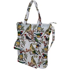 Vintage Birds Shoulder Tote Bag