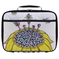 Bees At Work  Full Print Lunch Bag