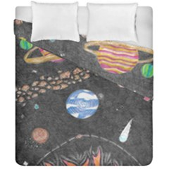 Space Duvet Cover Double Side (california King Size) by okhismakingart