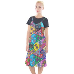 Stained Glass Flowers  Camis Fishtail Dress by okhismakingart