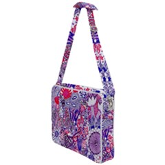 Floral Jungle Purple Cross Body Office Bag by okhismakingart