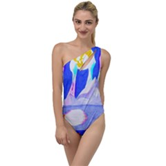 Angel s City In Blue To One Side Swimsuit by okhismakingart