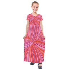 Electric Field Art Iii Kids  Short Sleeve Maxi Dress by okhismakingart