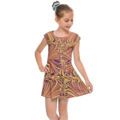 Electric Field Art X Kids  Cap Sleeve Dress by okhismakingart