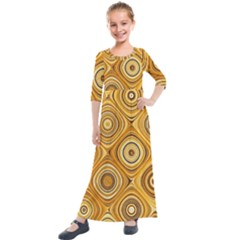 Electric Field Art Xiv Kids  Quarter Sleeve Maxi Dress by okhismakingart