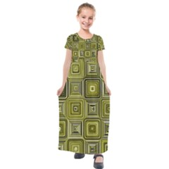 Electric Field Art Xvi Kids  Short Sleeve Maxi Dress by okhismakingart