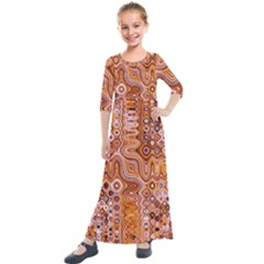 Electric Field Art Xviii Kids  Quarter Sleeve Maxi Dress by okhismakingart