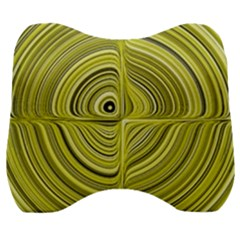 Electric Field Art Xxvii Velour Head Support Cushion by okhismakingart