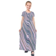 Electric Field Art Xxviii Kids  Short Sleeve Maxi Dress by okhismakingart