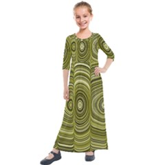 Electric Field Art Xxxiii Kids  Quarter Sleeve Maxi Dress by okhismakingart