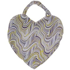 Electric Field Art Xxxvii Giant Heart Shaped Tote