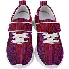 Electric Field Art Xlii Kids  Velcro Strap Shoes by okhismakingart
