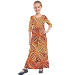 Electric Field Art Xlvi Kids  Quarter Sleeve Maxi Dress by okhismakingart