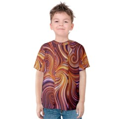 Electric Field Art Liv Kids  Cotton Tee by okhismakingart