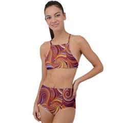 Electric Field Art Liv High Waist Tankini Set by okhismakingart
