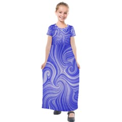 Electric Field Art Lvii Kids  Short Sleeve Maxi Dress by okhismakingart