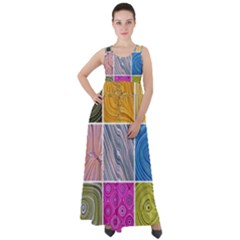 Electric Field Art Collage Ii Empire Waist Velour Maxi Dress by okhismakingart