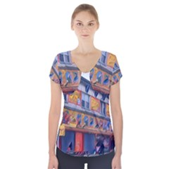 Coney Island Freak Show Short Sleeve Front Detail Top