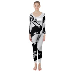 Pinup Girl Long Sleeve Catsuit