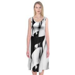 Pinup Girl Midi Sleeveless Dress