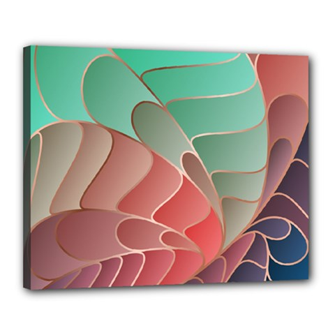 Modern Colorful Abstract Art Canvas 20  X 16  (stretched)