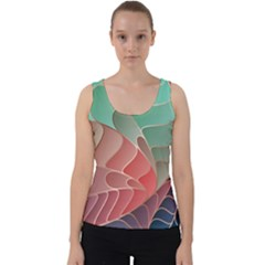 Modern Colorful Abstract Art Velvet Tank Top by tarastyle